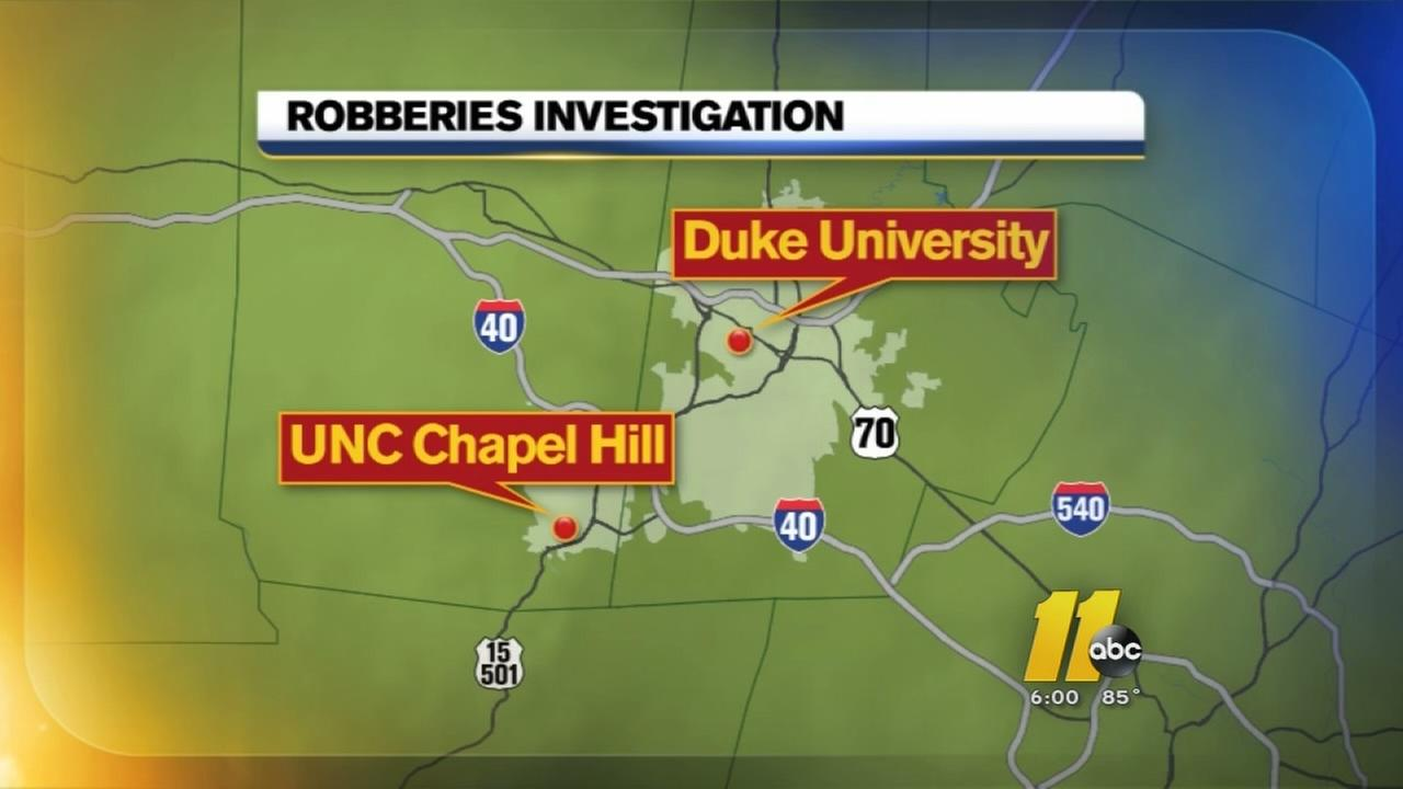 Armed robberies reported near Duke, UNC campuses