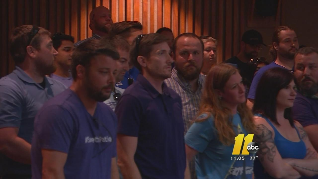 Protesters at meeting for shorter alcohol serving times in Raleigh