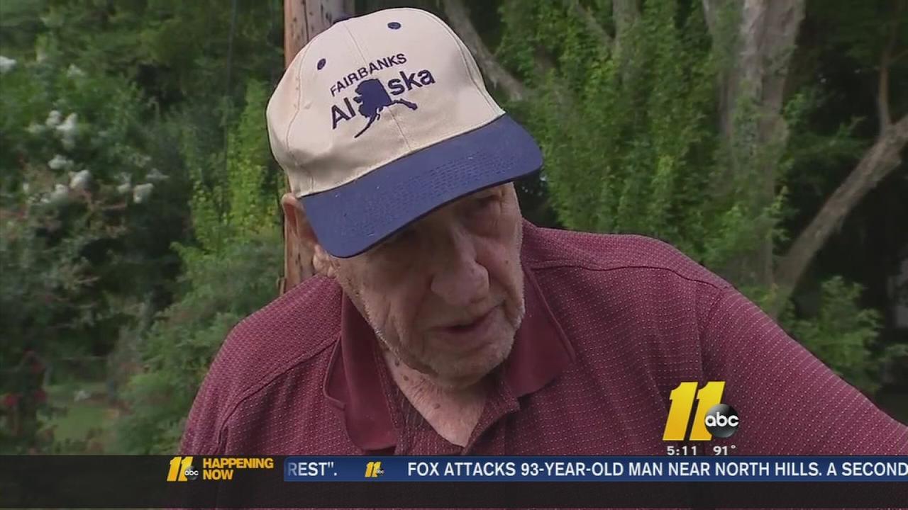 Fox bites 93-year-old man