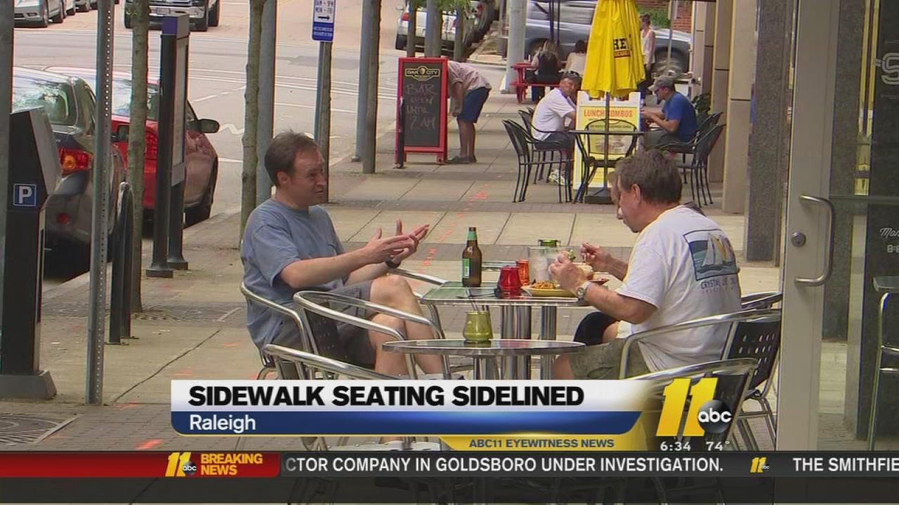 Sidewalk seating sidelined
