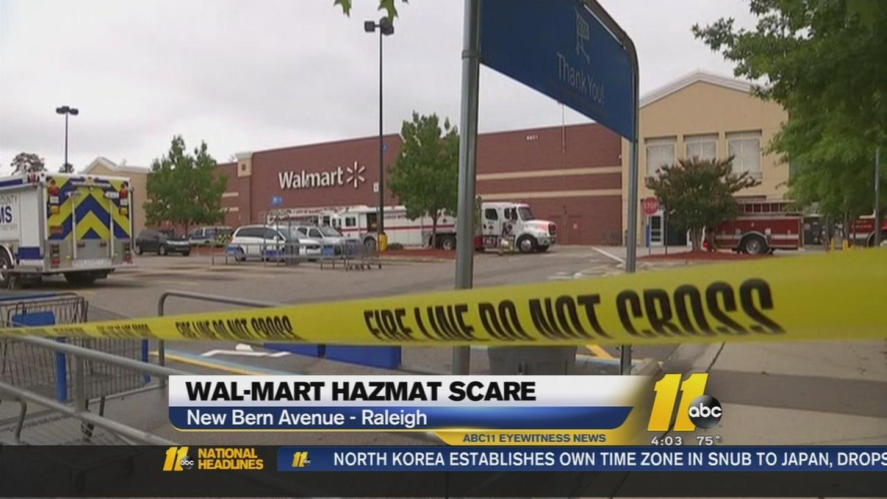 9 taken to hospital after raleigh walmart hazmat scare abc11com