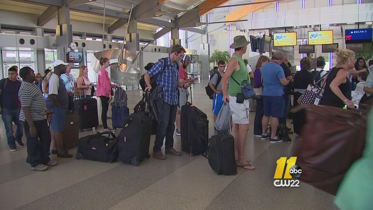 Thousands delayed at RDU