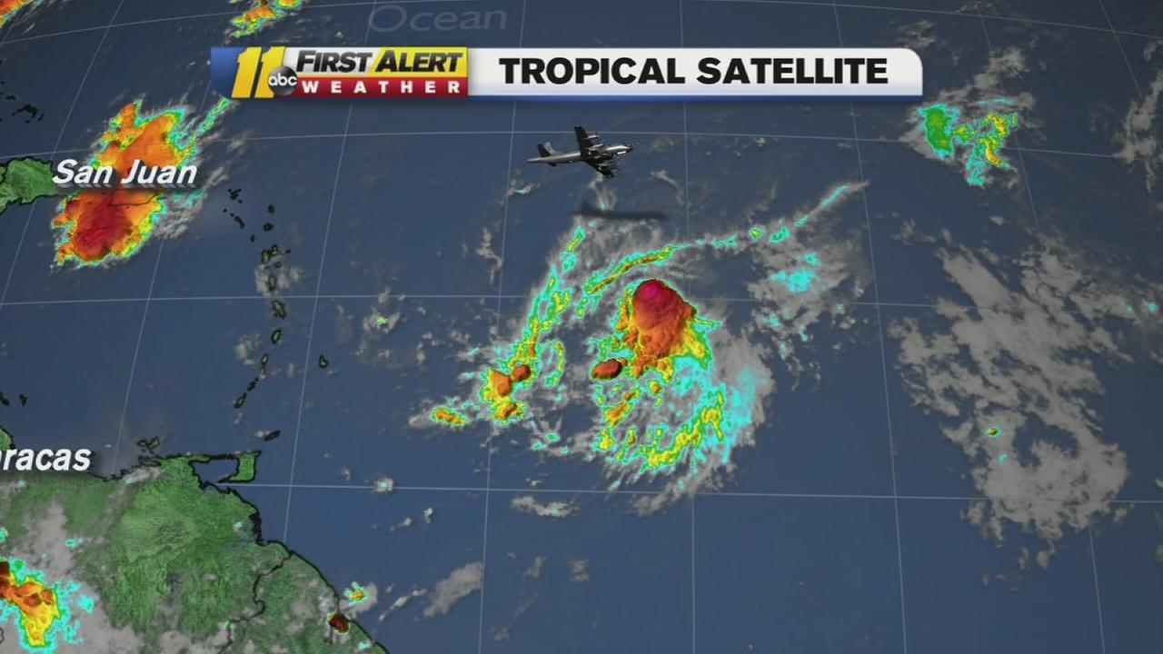 Tropical Storm Erika tracker