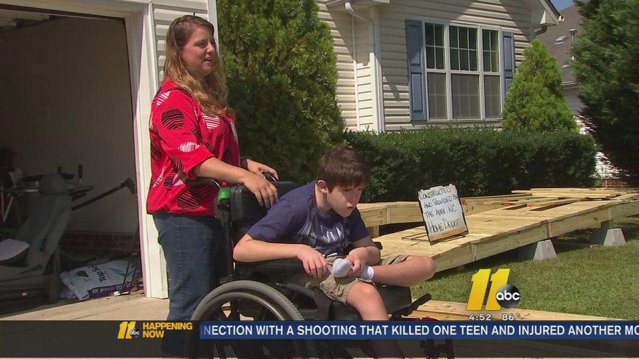 Home Depot builds ramp for local family