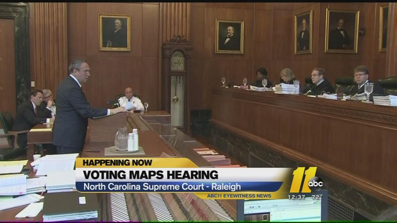 Voting district maps hearing