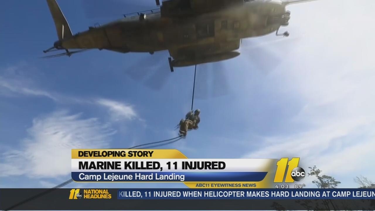 Marine killed, 11 injured