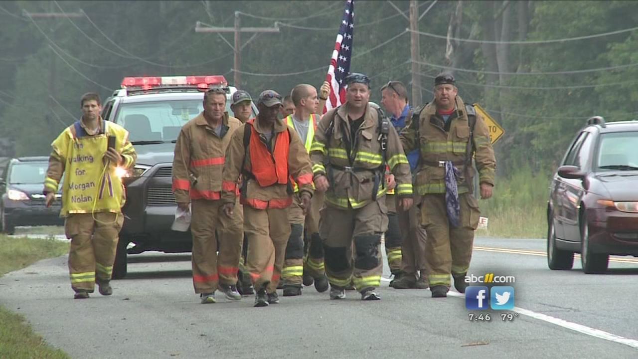 Firefighters 50-mile walk