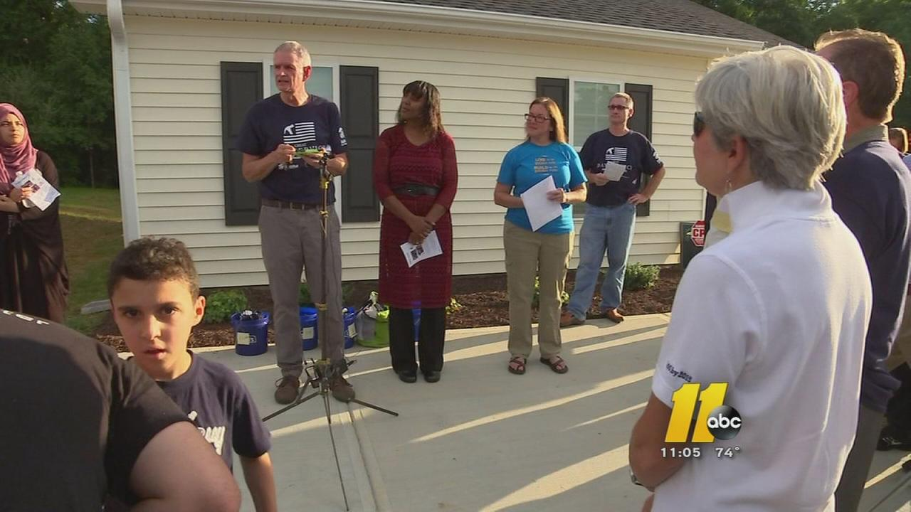 Home built in the name of Chapel Hill shooting victims
