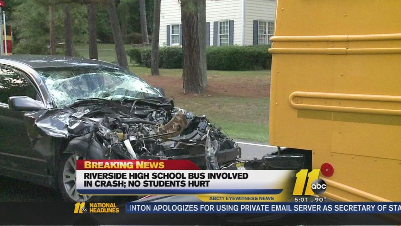 School bus hit in Durham