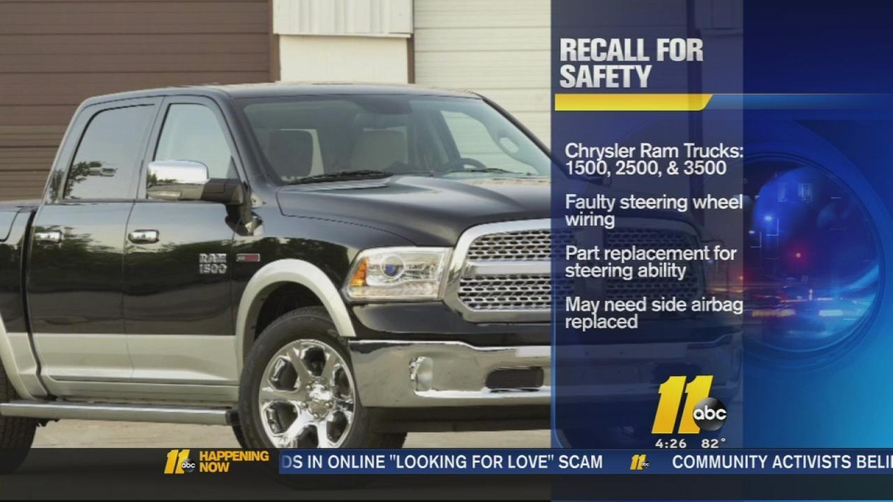 Chrysler recalls certain Ram Trucks