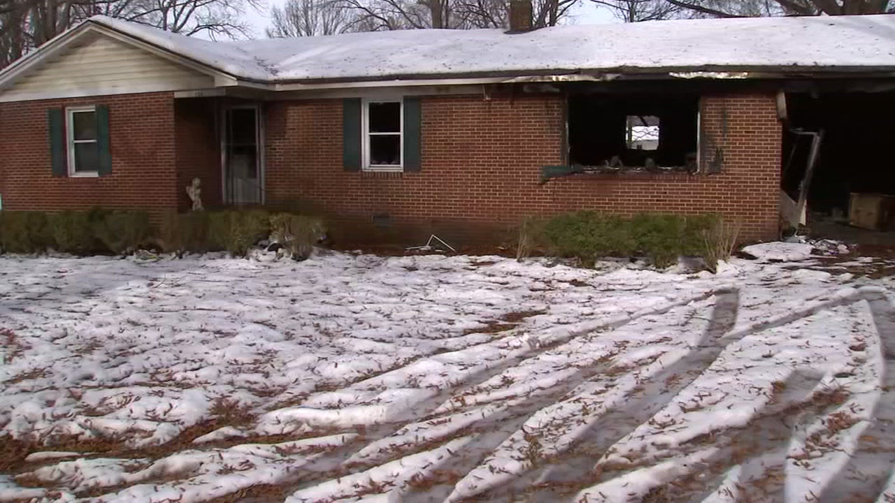While so many woke up to enjoy a blanket of snow Sunday morning, the Garnett family woke to smoke and flames tearing through their Roxboro home.