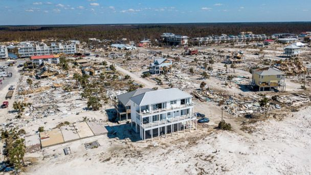 One familys newly built concrete home survived Hurricane Michael virtually untouched.
