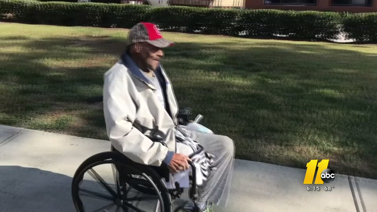 As Louis Thomas Davis, known as LT, tries to wheel his way on Ashe Avenue towards Hillsborough Street in Raleigh, the smallest obstacle can prove an immense challenge.