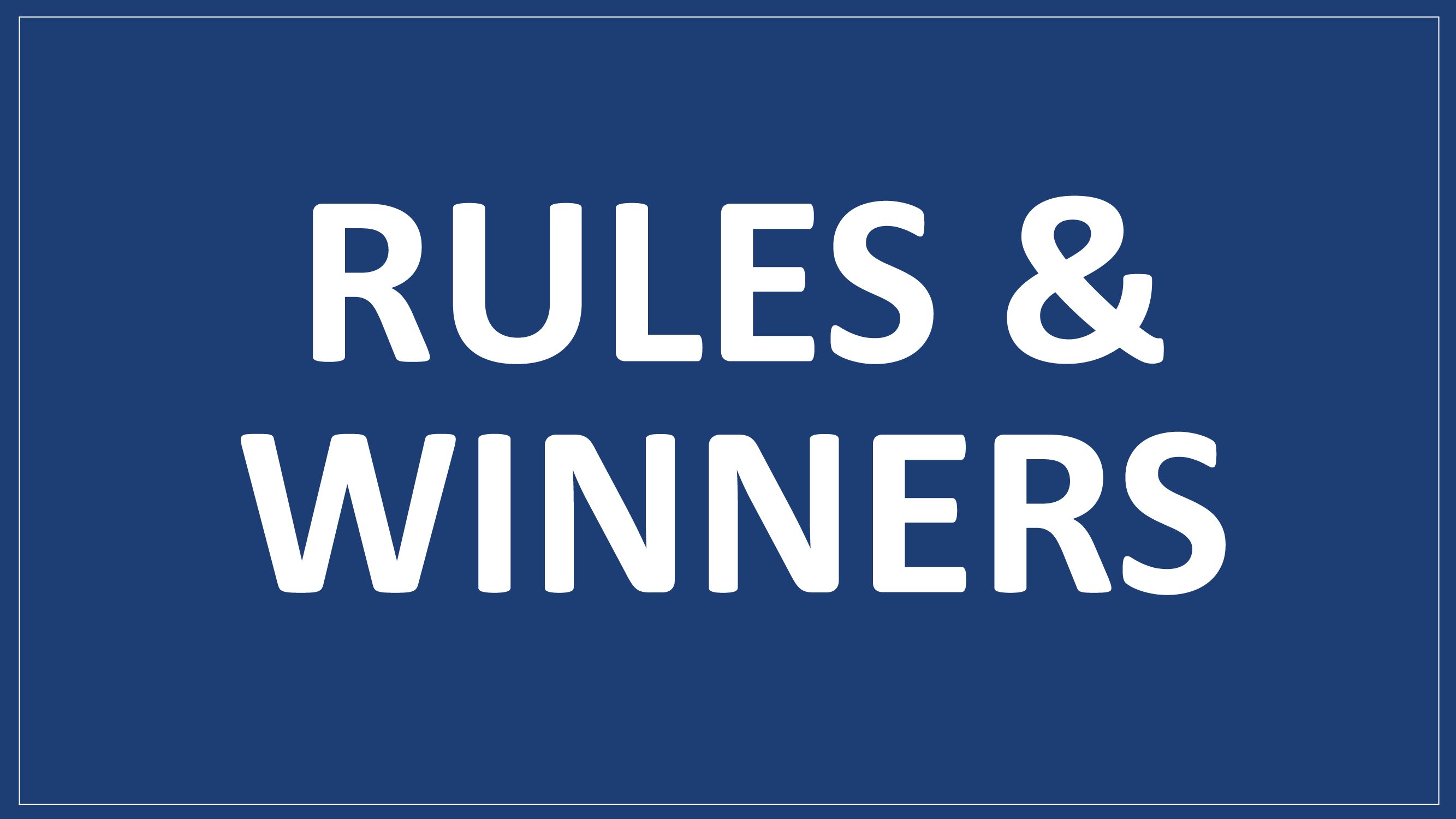 Sweepstakes rules and winners image