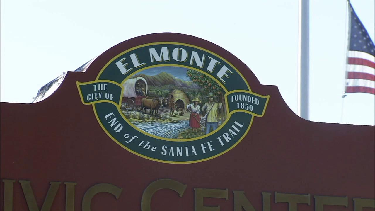 A City of El Monte sign is shown in this undated file photo.