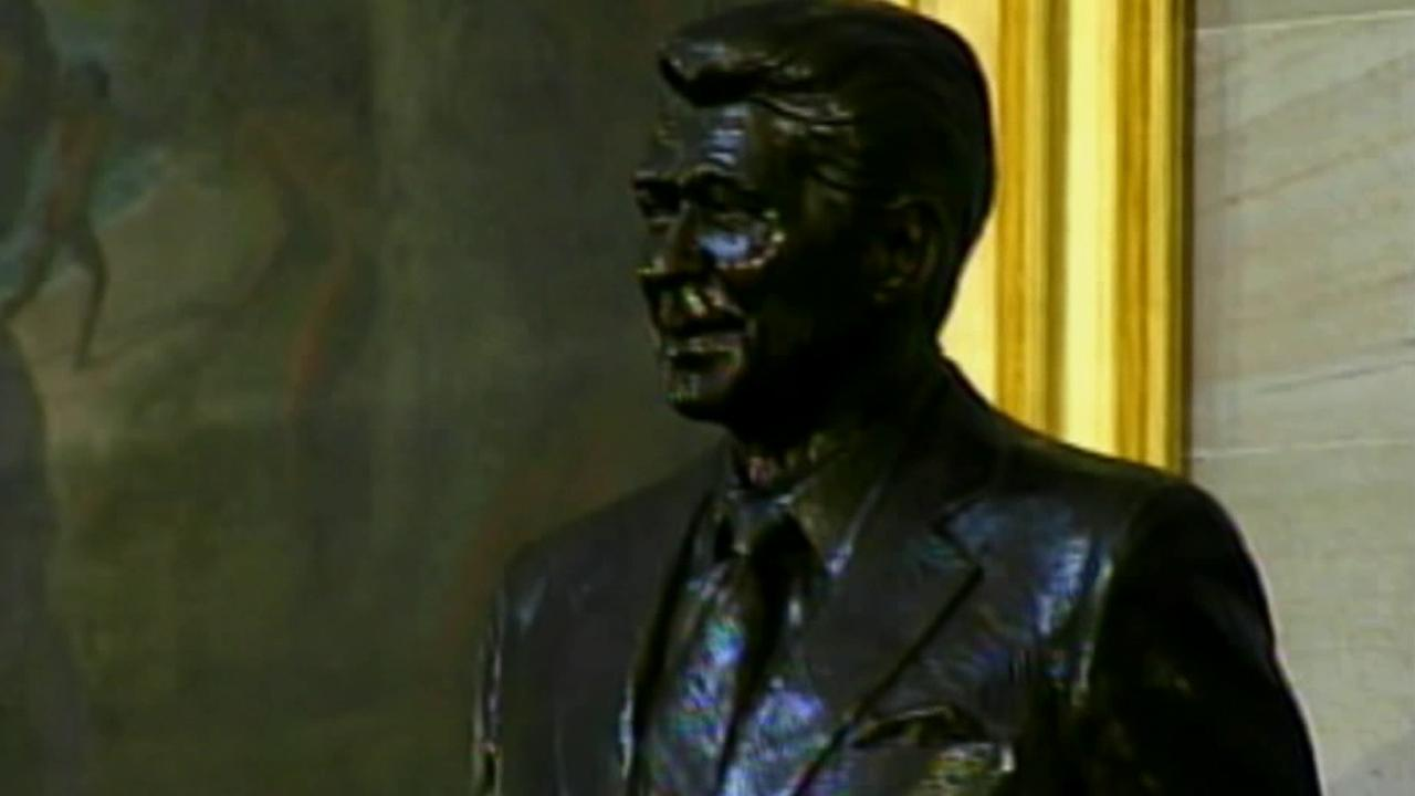 A statue of former President Ronald Reagan is seen in this undated file photo.
