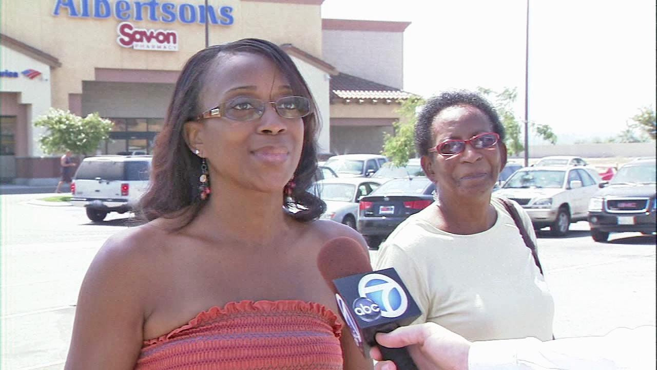 Albertsons customer Venita Price appears outside a store in Moreno Valley on Thursday, September 06, 2012. Nineteen stores in the Southland are slated for closure by the end of the year.
