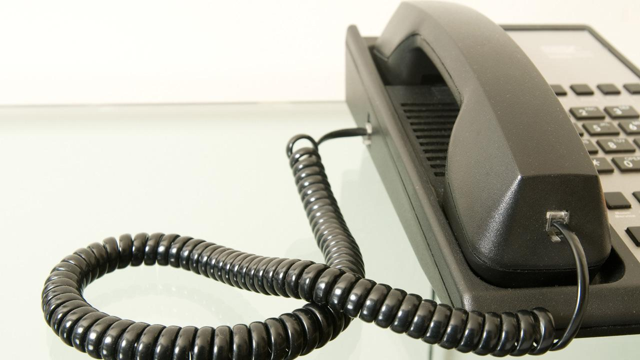 A telephone is seen in this undated file photo.