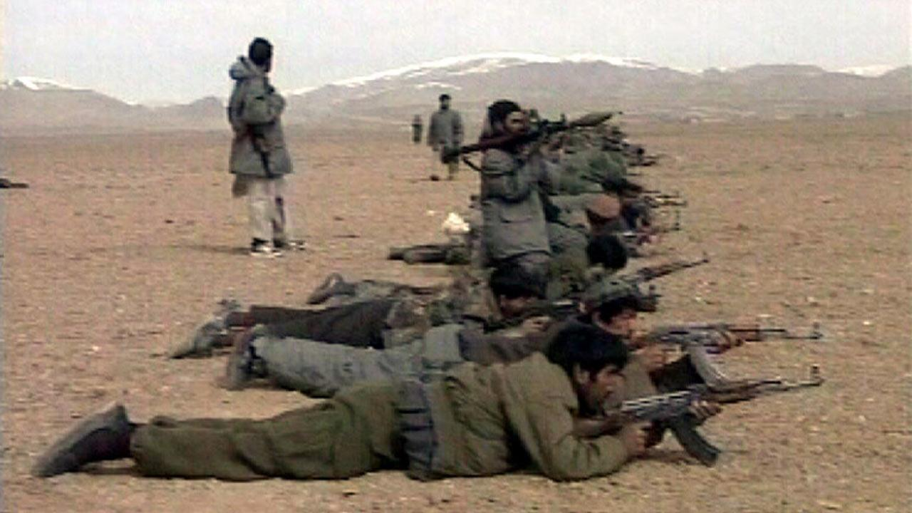 Undated file photo of al Qaeda militant training in Afghanistan.
