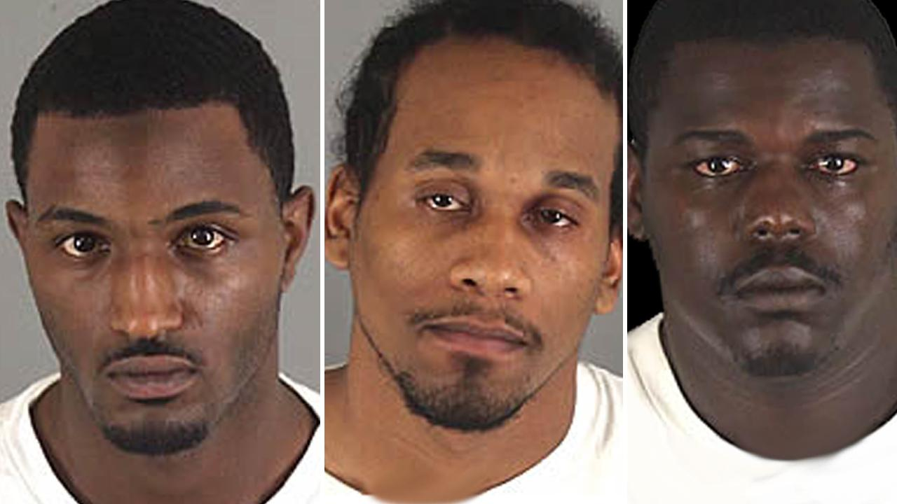 Traevon Vidaud (left), Damian Banks (center) and Jerome Allen (right) are seen in this undated file photo.