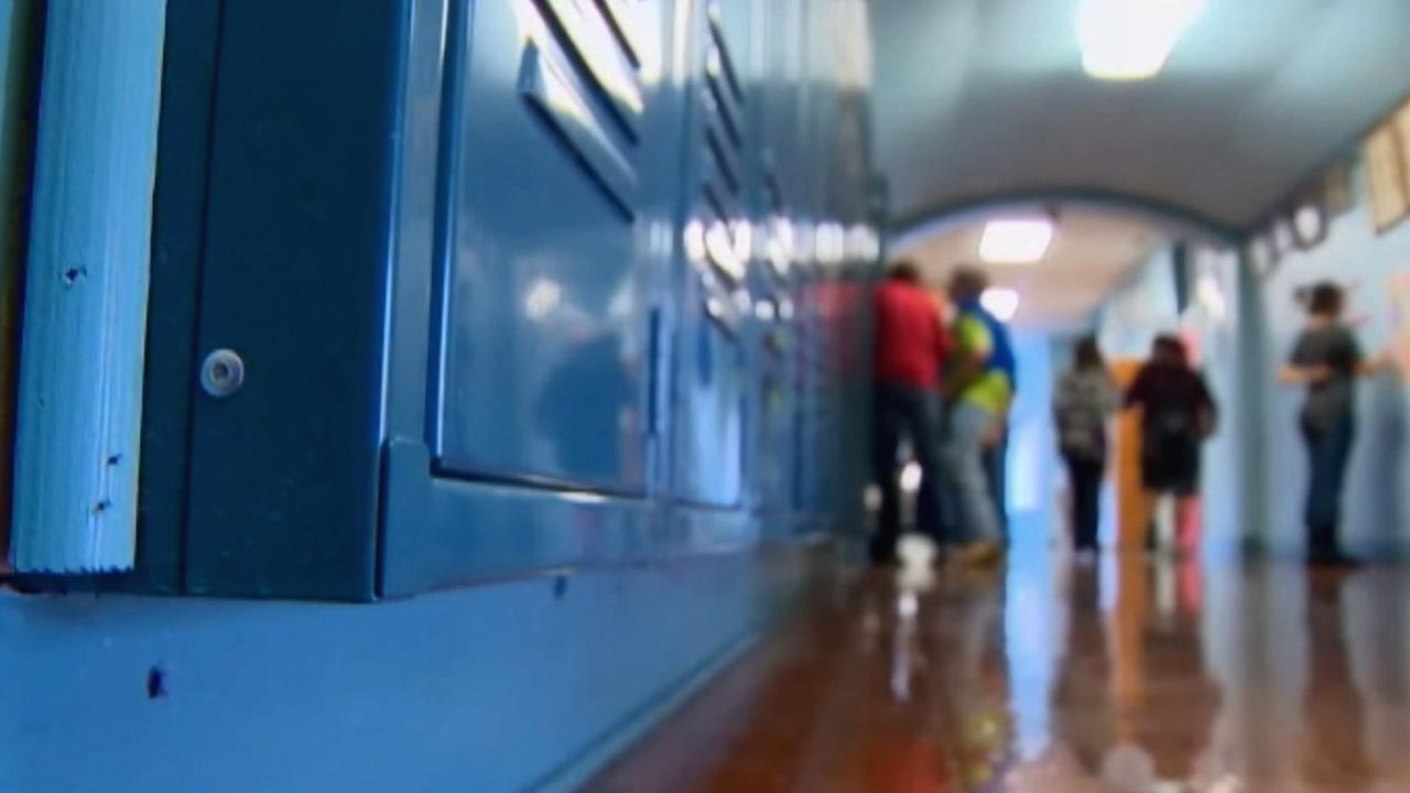 School lockers are shown in this undated file image.
