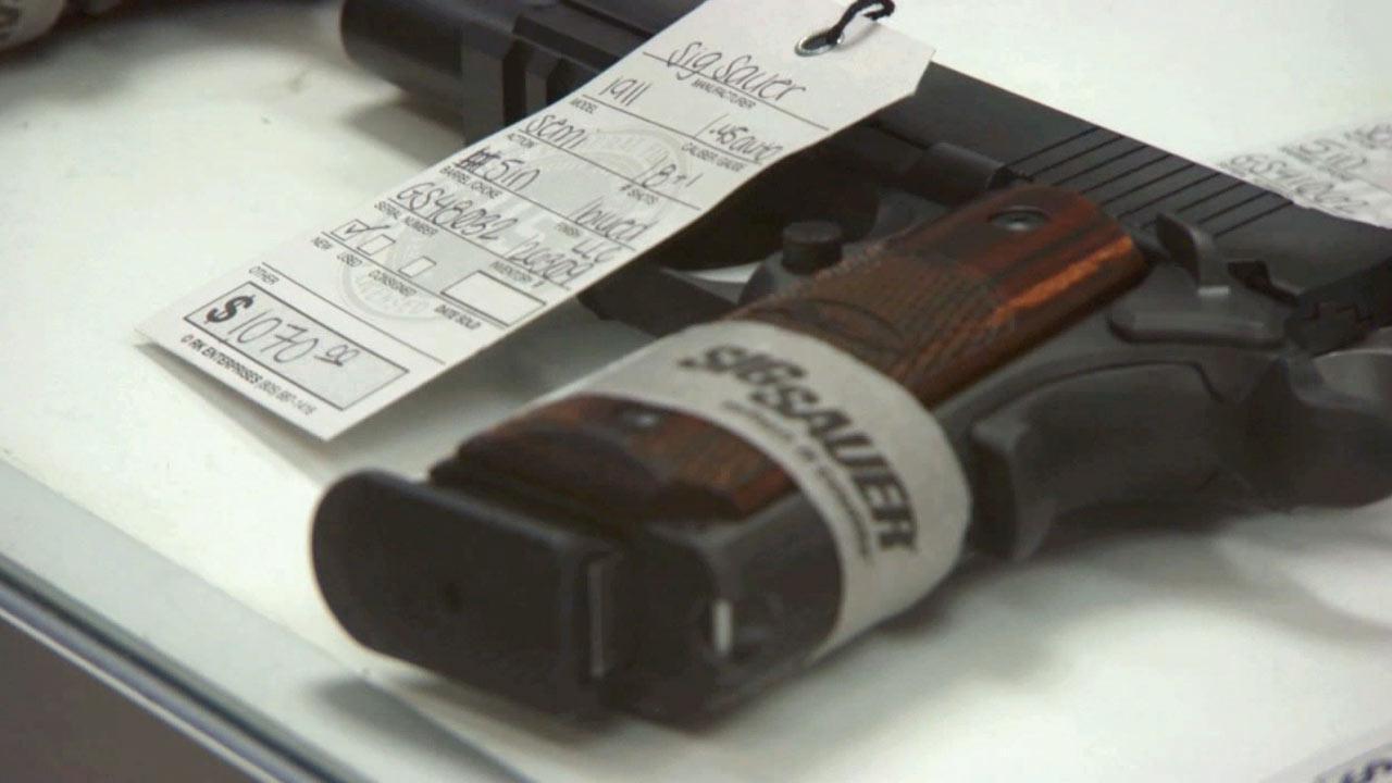 Undated file photo of a handgun.