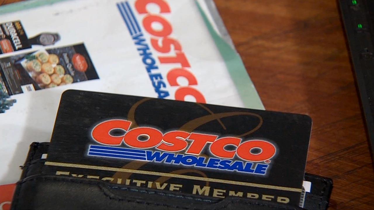 File photo of a Costco membership card.