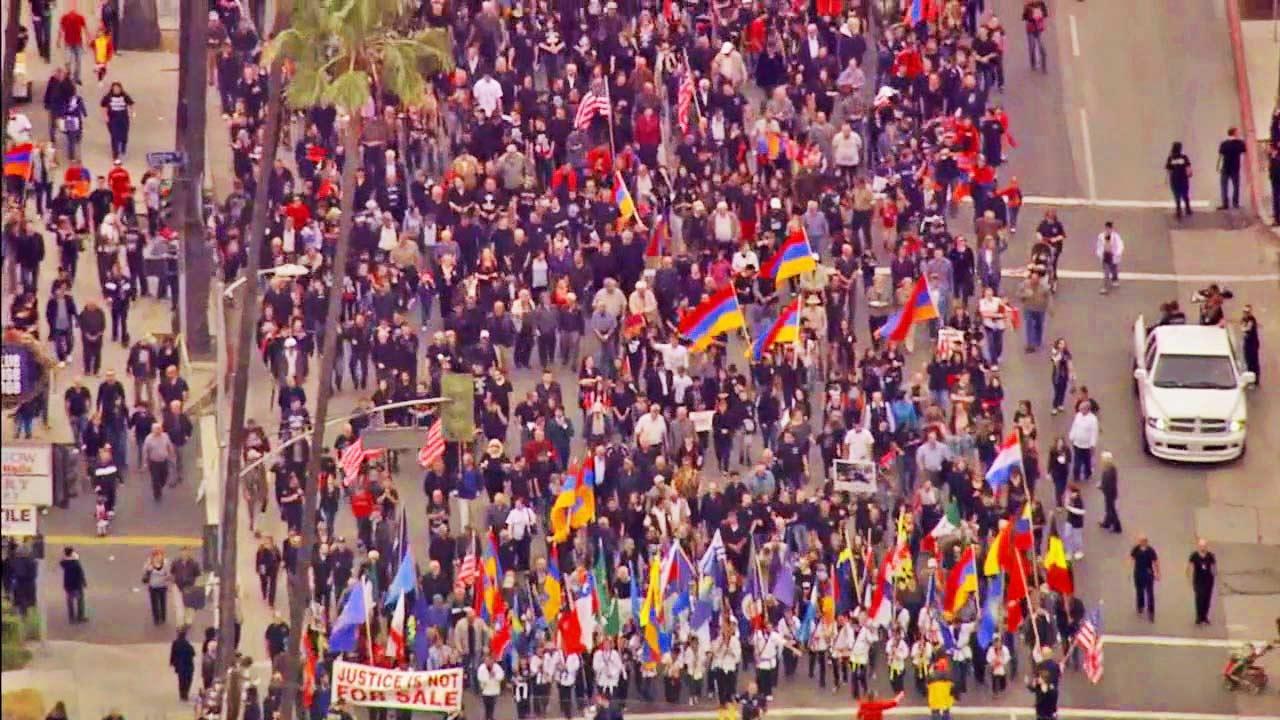 Marchers mark Armenian Genocide anniversary
