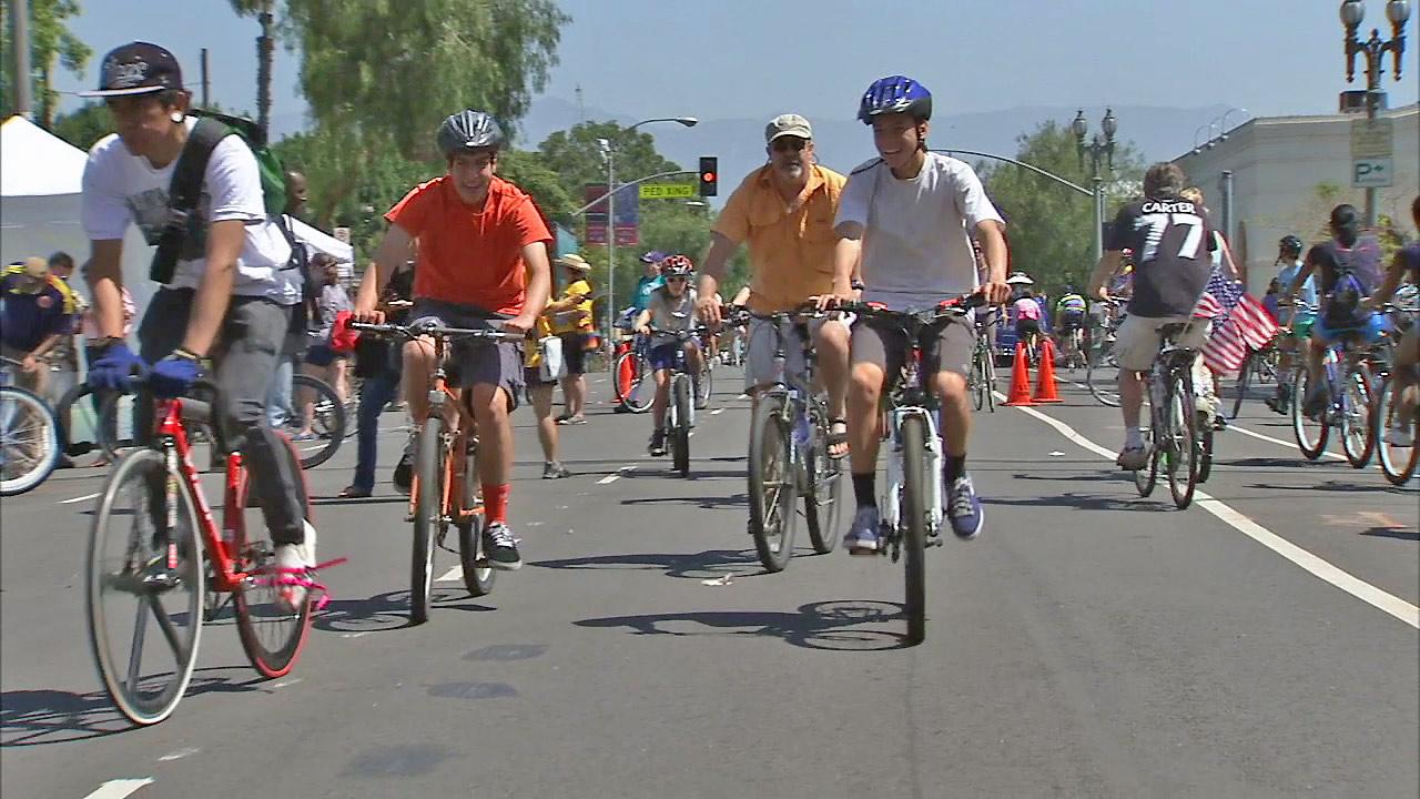Bicyclists are seen in this undated file photo.