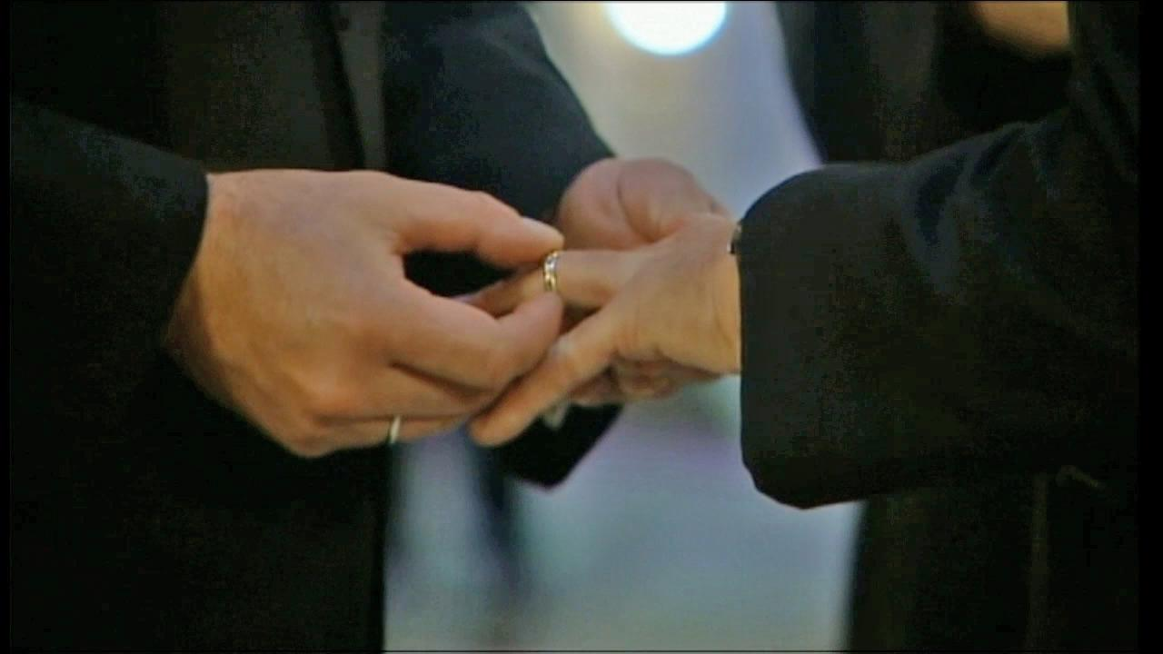Two people exchange vows in this undated file photo.