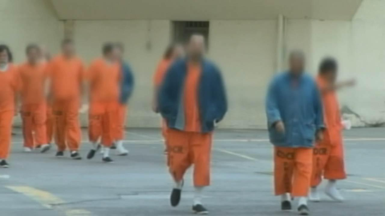 Inmates are seen in this undated file photo.