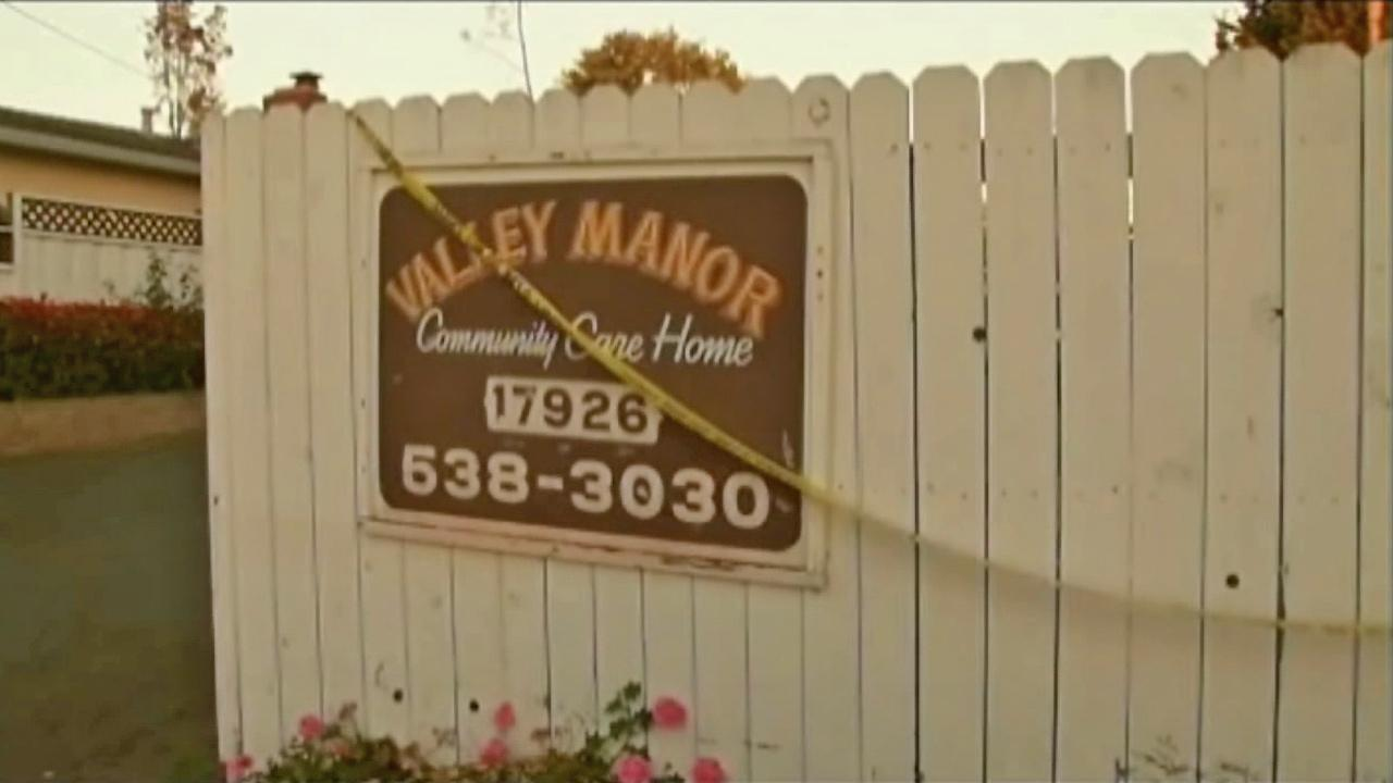 A sign for the Valley Manor Community Care Home is seen in this undated file photo.
