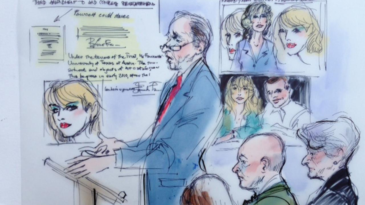 University of Texas attorney David Beck is seen in this court sketch Monday, Nov. 25, 2013.