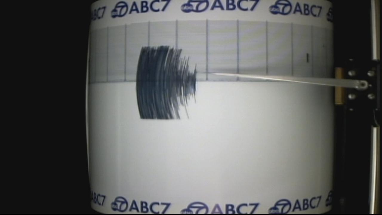 The ABC7 Quake Cam shows the 4.6-magnitude earthquake that struck near Camalu, Mexico, on Thursday, Dec. 19, 2013.