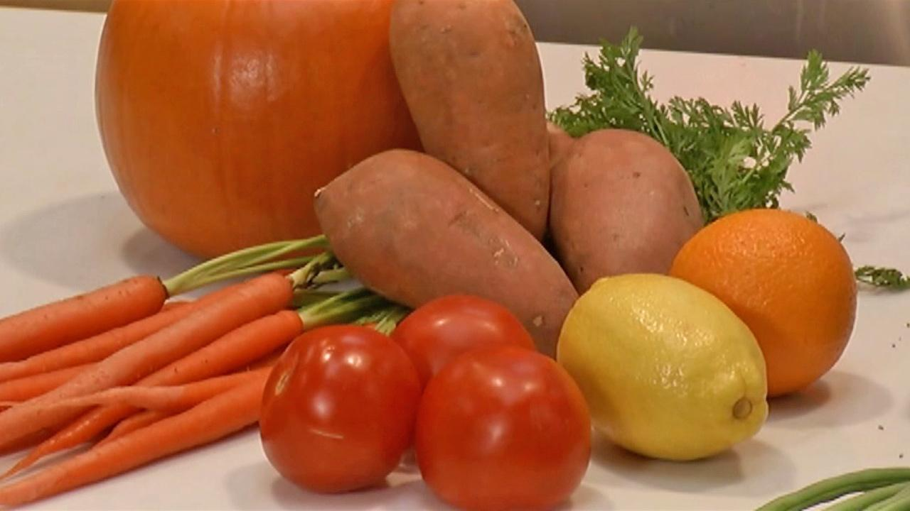 An assortment of vegetables and fruit is seen in this undated file photo.