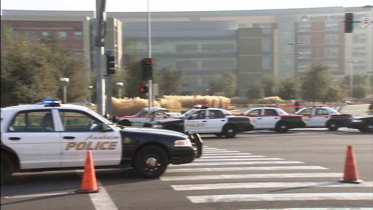 A bank robbery suspect was killed following a police chase in Anaheim Friday, Jan. 10, 2014.