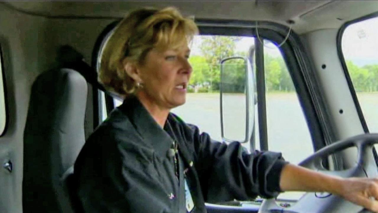 Lisa Bry is seen driving an 18-wheeler in this undated file photo.