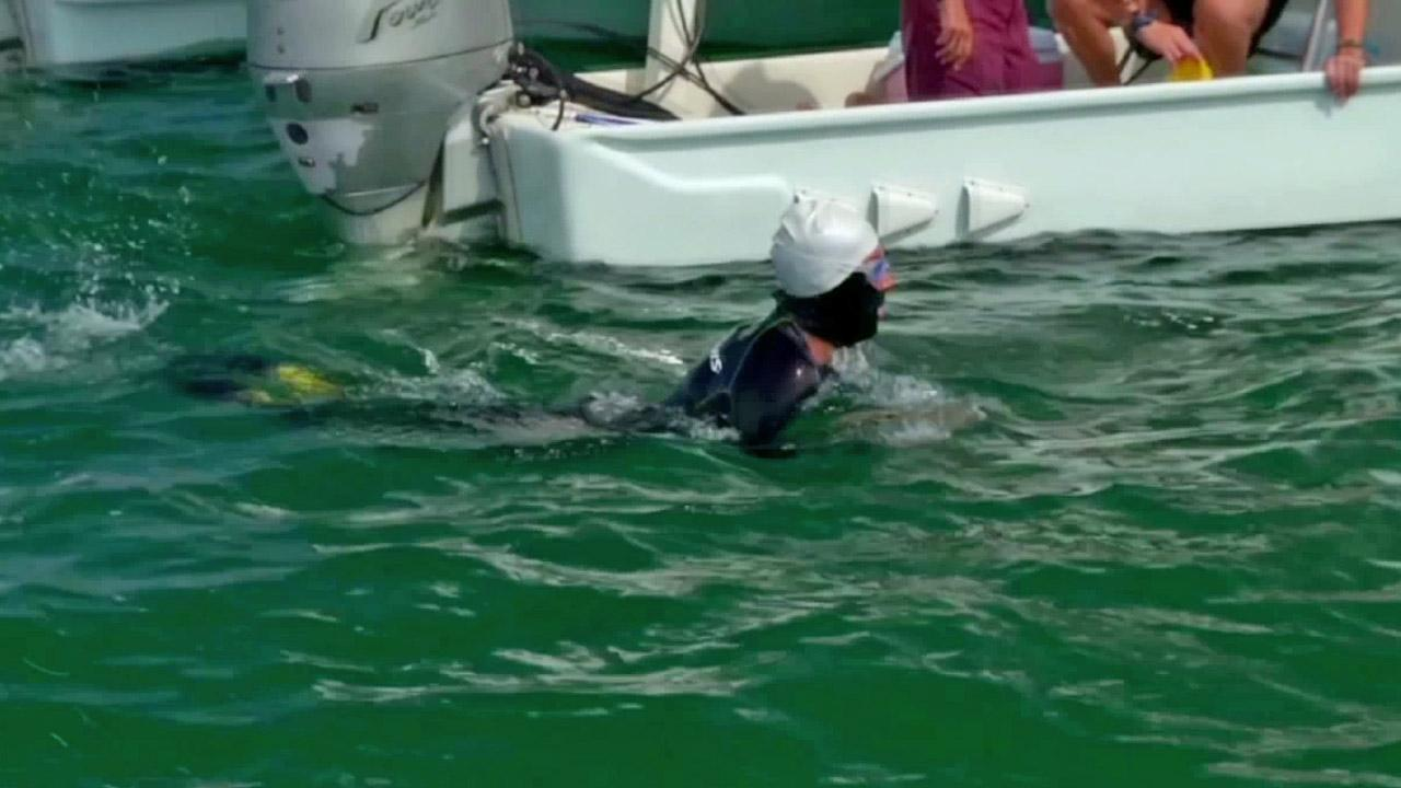 Diana Nyad, 62, is shown swimming in this August 2012 photo.