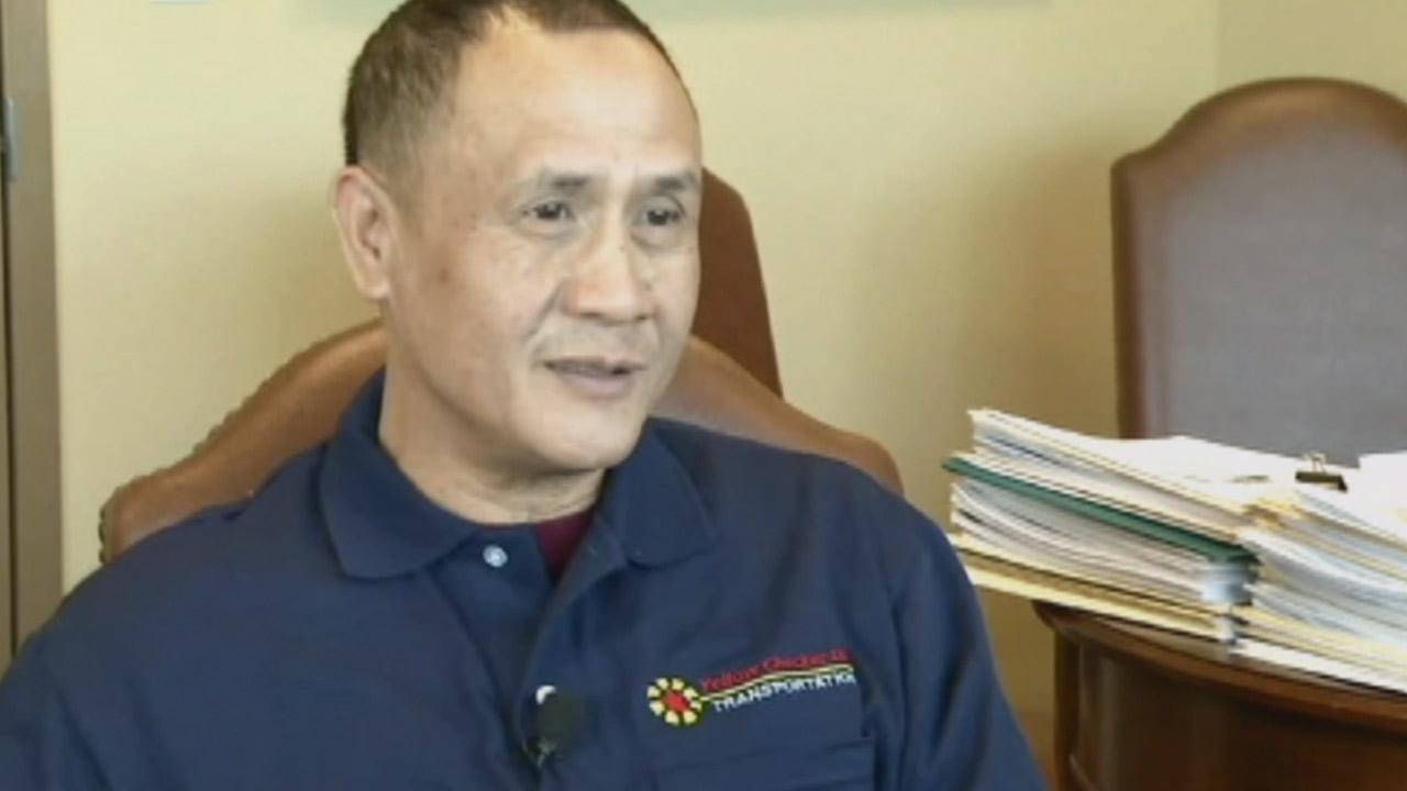 Gerardo Gamboa, a cab driver in Las Vegas, was praised for returning $300,000 he found in the backseat of his cab on Monday, Dec. 23, 2013.