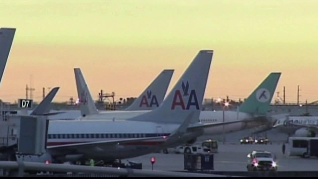 American Airlines planes are seen in this undated file photo.
