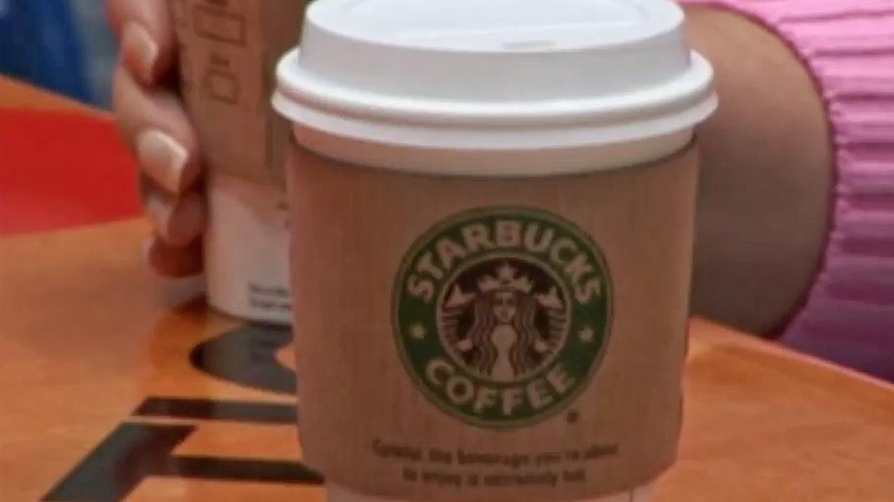 A Starbucks cup is seen in this undated file photo.