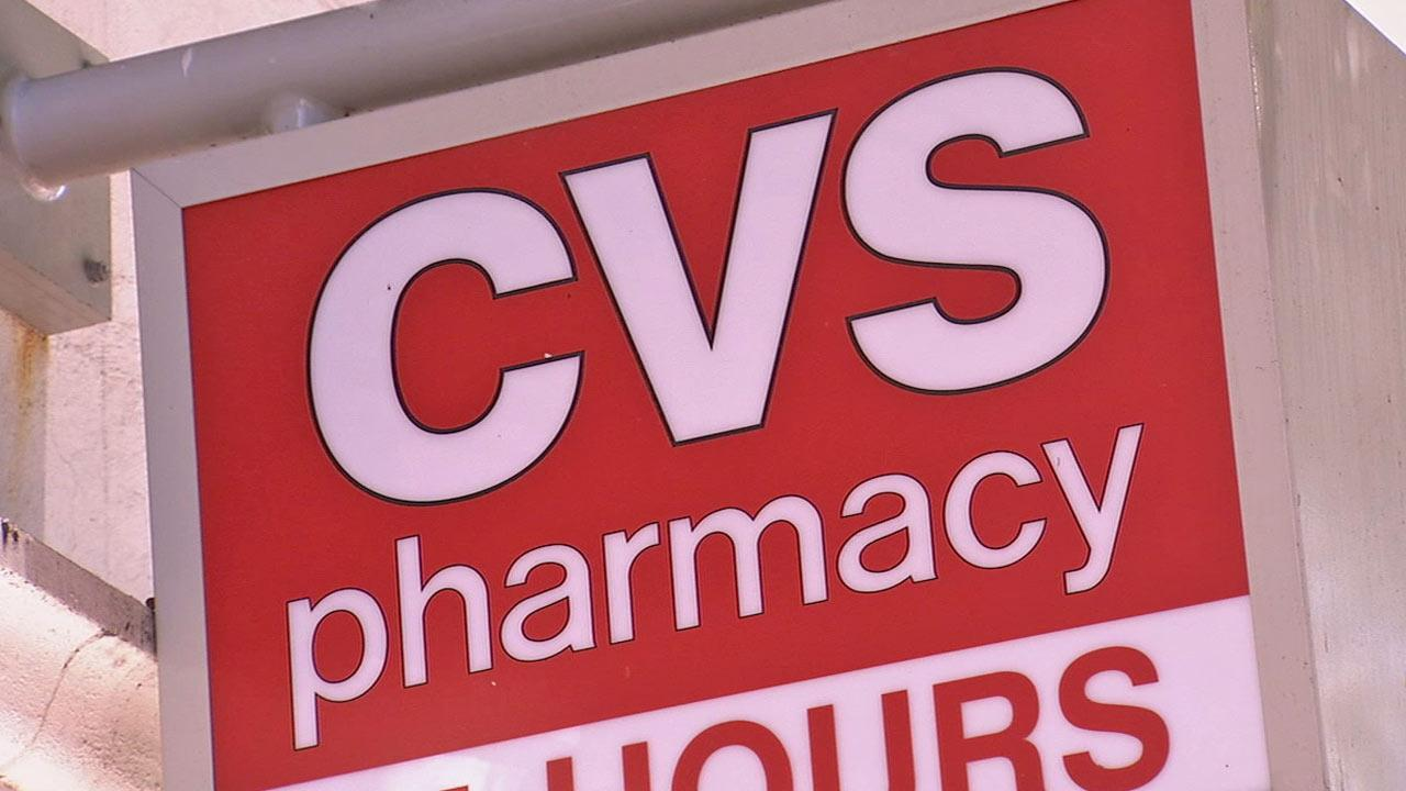 A sign for the pharmacy chain CVS is shown in this undated file photo.