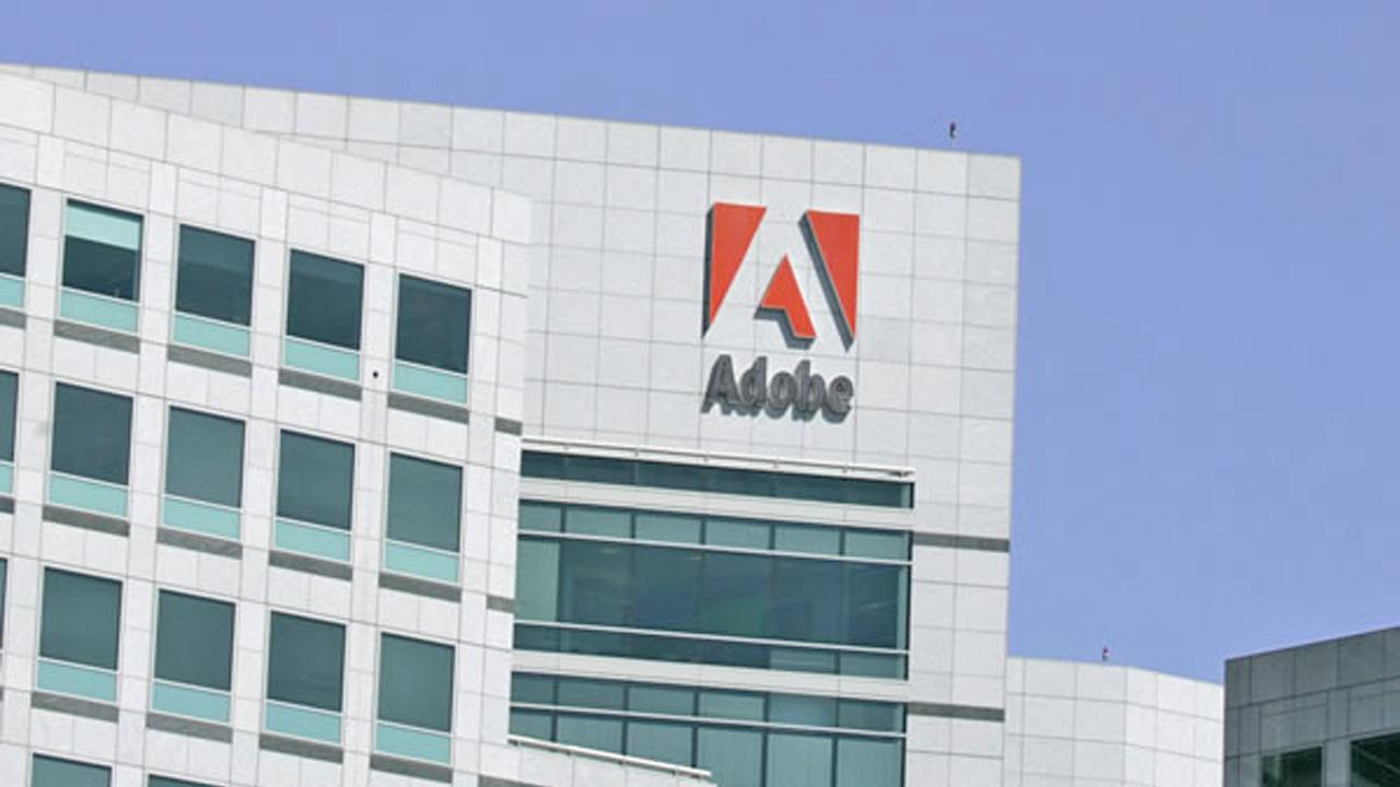 The Adobe Systems Inc. logo is shown in this undated file photo.