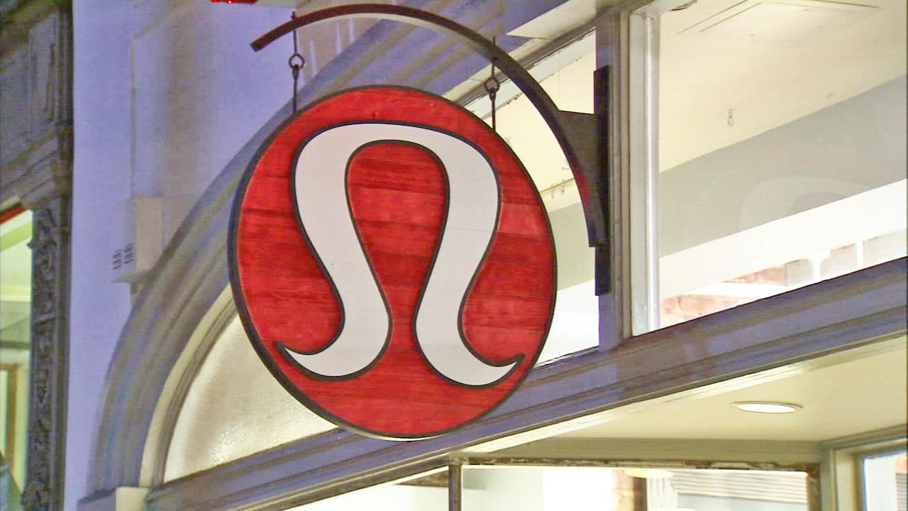 The Lululemon sign hangs over the entrance of the Pasadena branch in this undated file photo.