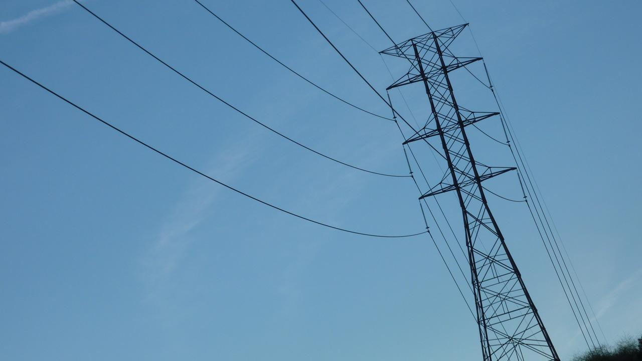 Power lines are shown in this undated file photo.