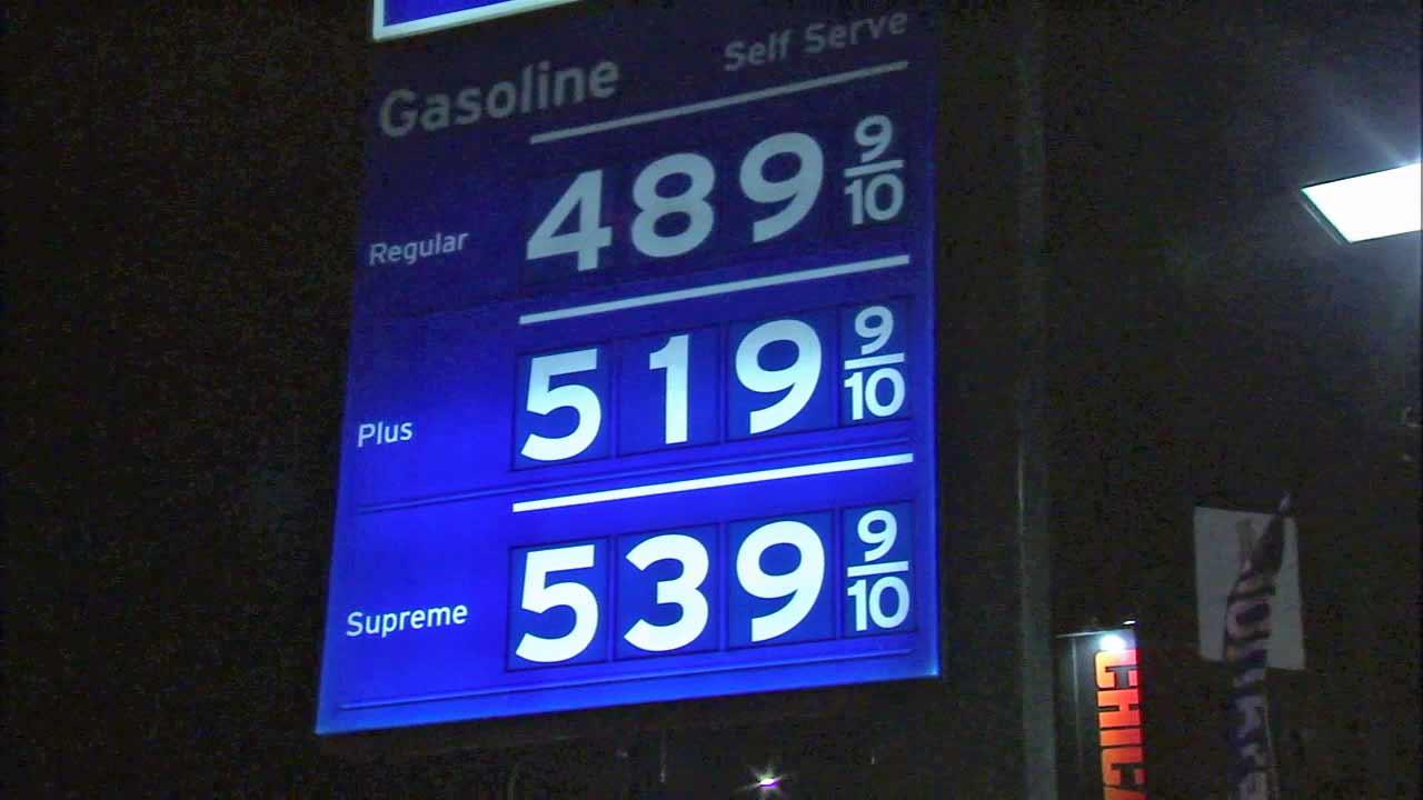 Gas Prices In California >> California Gas Prices Tie All Time High Set In June 2008 Abc7 Com
