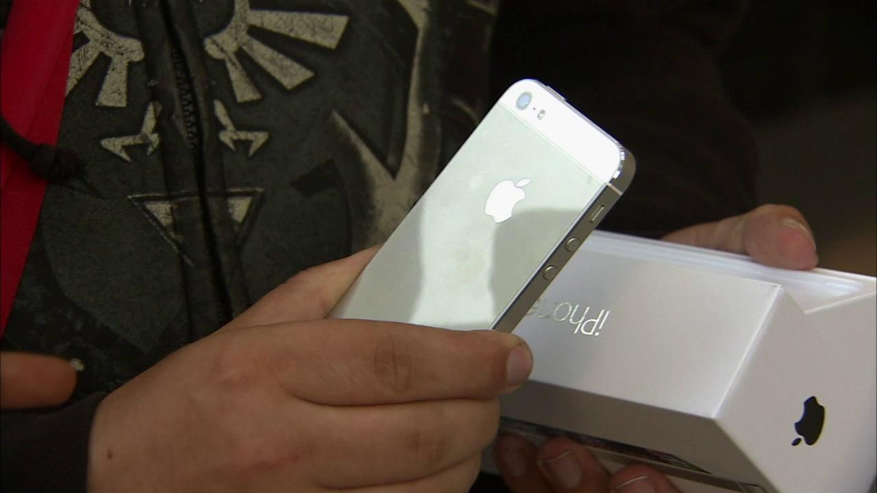 The iPhone 5 is seen in this September 2012 file photo.