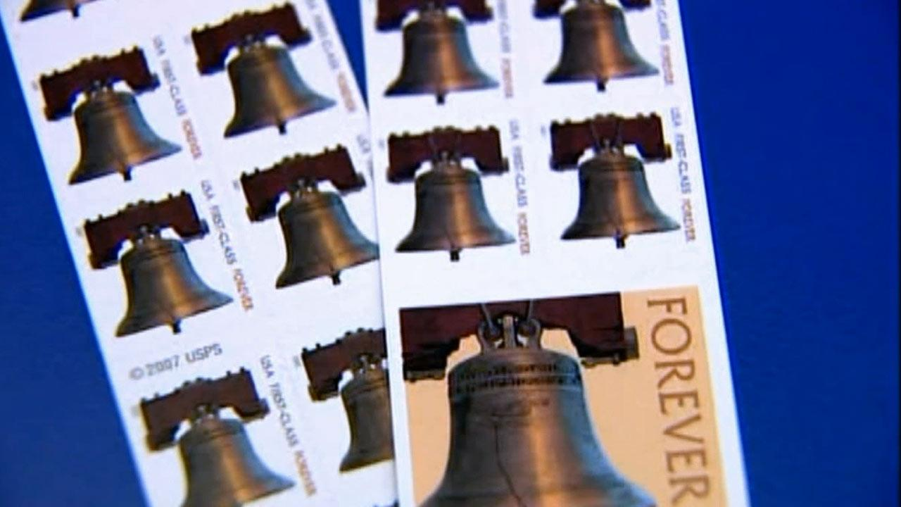 The price of stamps increased from 45 to 46 cents on Sunday, Jan. 27, 2013.