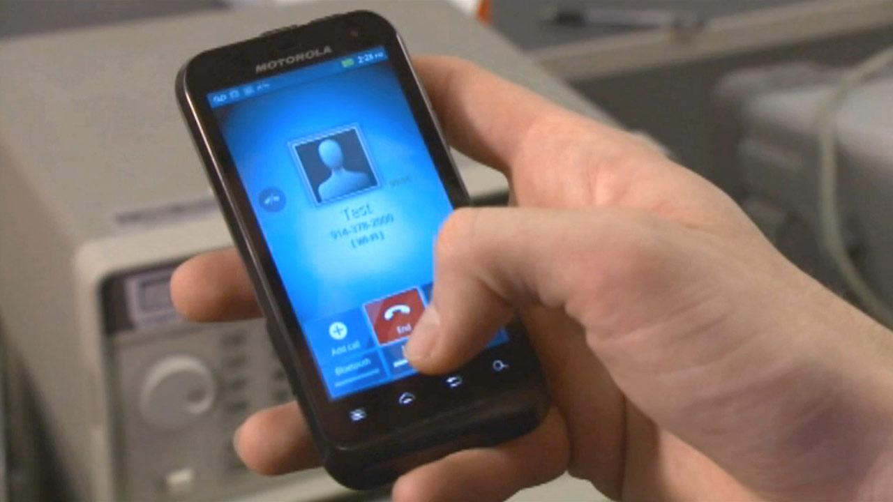 File photo of the Motorola DEFY XT, an Android smartphone offered by Republic Wireless.