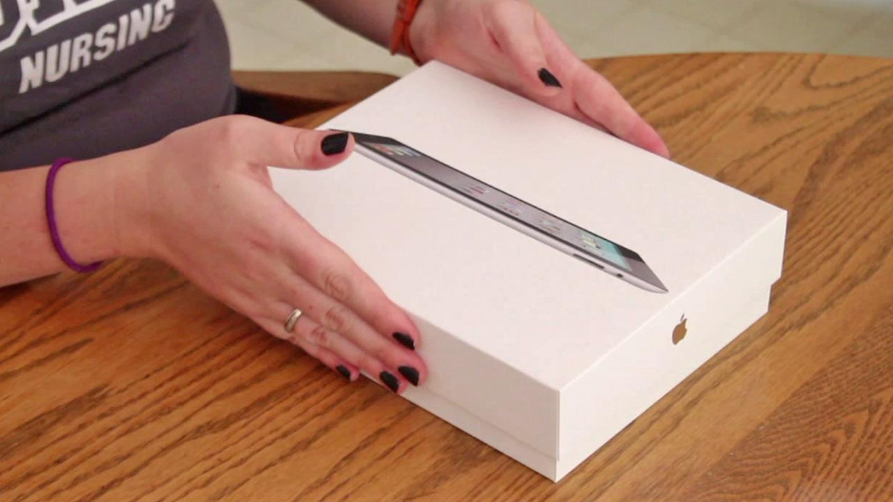 An iPad box is shown in this undated file photo.